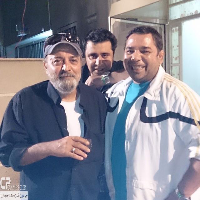 داریوش سلیمی،سیروس مقدم و سعید نعمت الله در پشت صحنه سریال مدینه