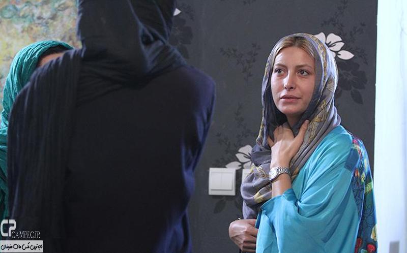 فریبا نادری در پشت صحنه سریال فاخته