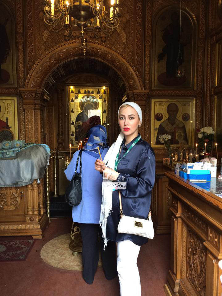 جدید ترین عکس های آناهیتا نعمتی در مسکو