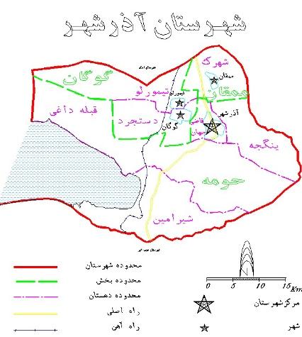 نقشه آذرشهر