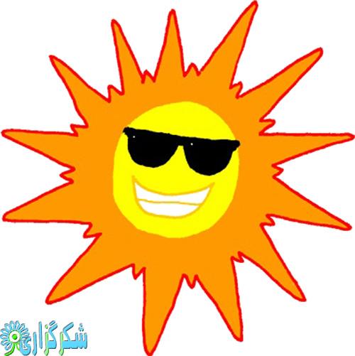گرما-زدگی-درمان-علت-جلوگیری-تعریق-زیاد-عرق-کردن-عکس-کلیپ آرت-خورشید