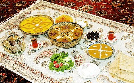 سفره های پر فیض رمضان - که آدم هرساله دلش لک میزه تا بیاد