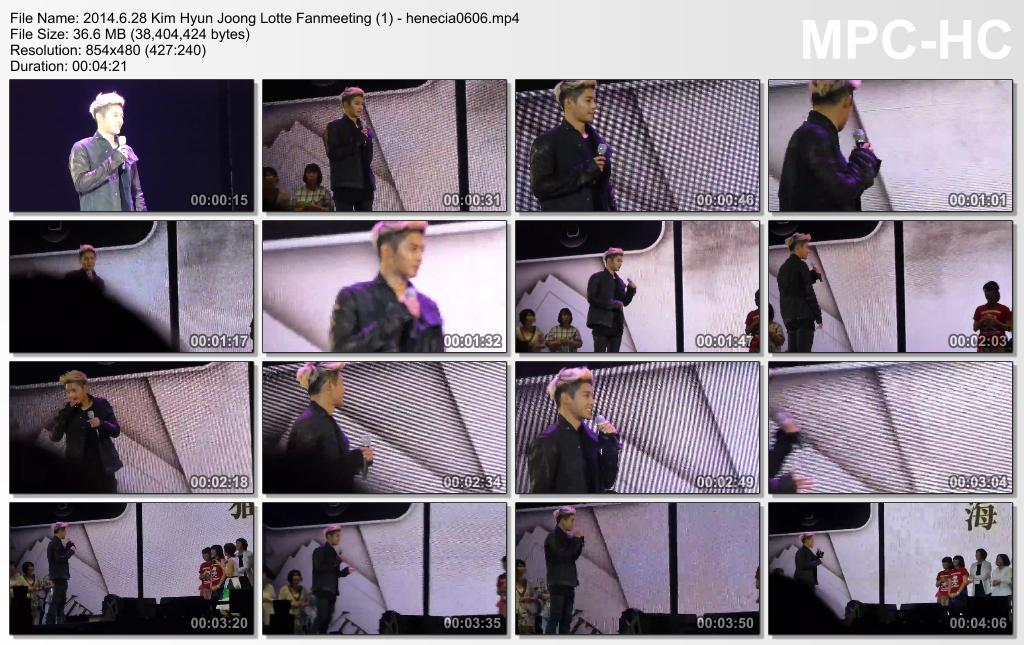 [amiko0071 Fancam] Kim Hyun Joong - Lotte Fan Meeting [4.06.28]