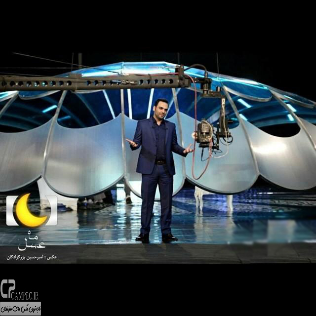 عکس های احسان علیخانی در پشت صحنه برنامه ماه عسل 93
