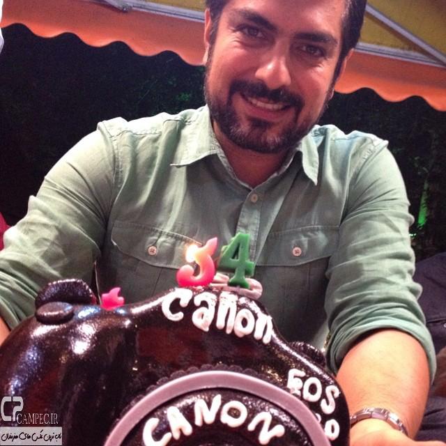 مهدی پاکدل در جشن تول 34 سالگیش