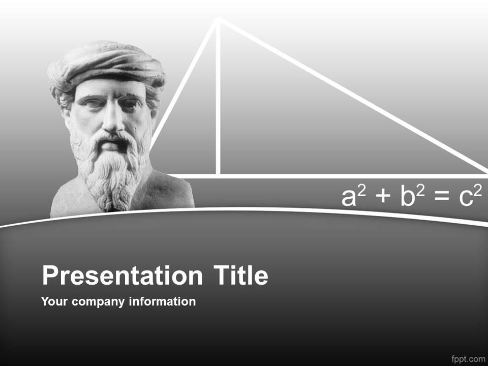 قالب پاورپوینت بزرگترین ریاضی دان
