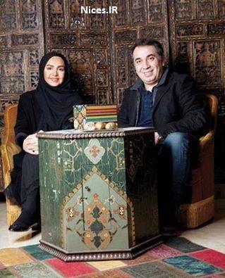 سیامک انصاری و همسرش