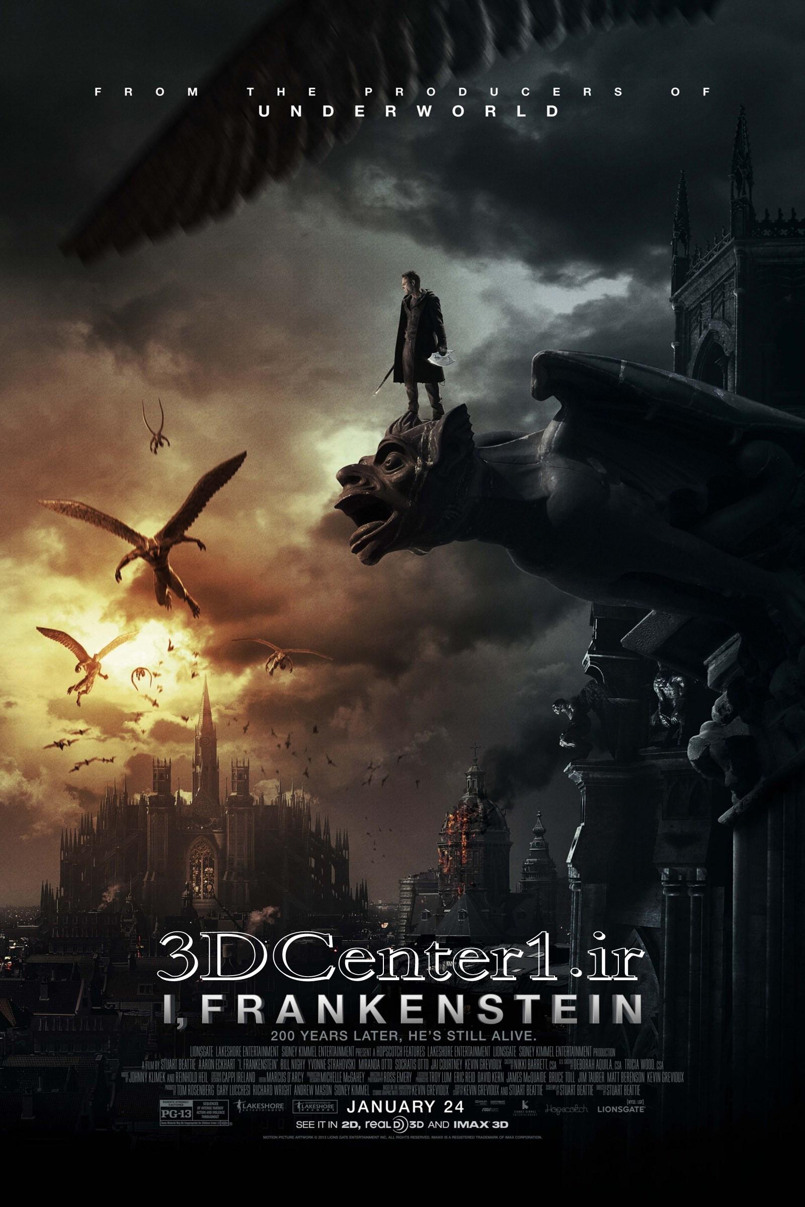 دانلود فیلم سه بعدی I,Frankenstein 3D