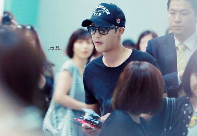 HD Photos - Set 1_KIM HYUN JOONG Incheon Departure to Taiwan – 2014.07.05