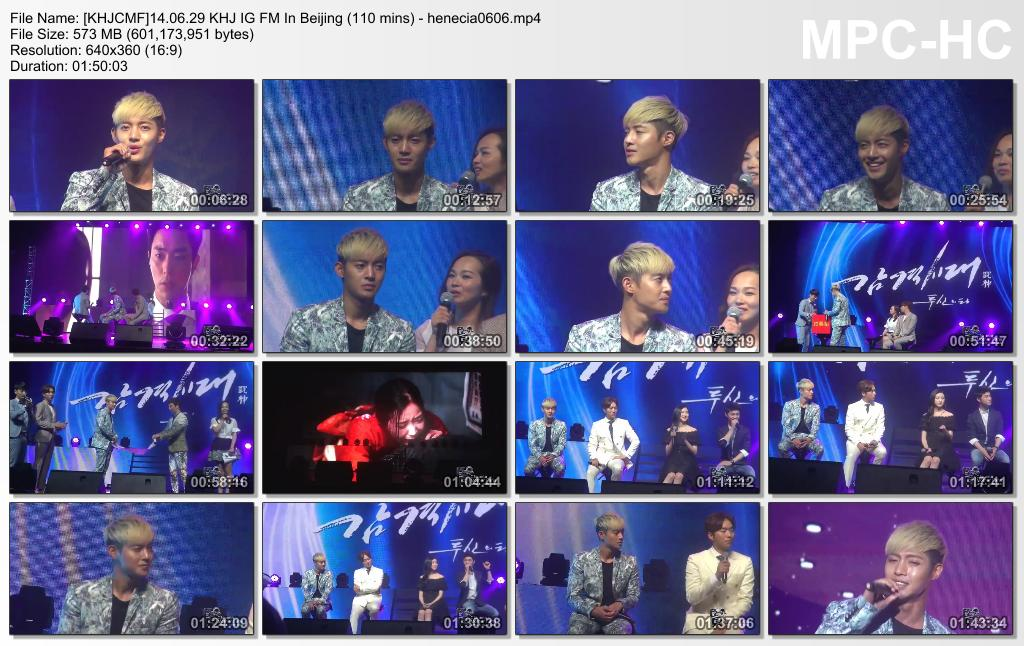 [Video] 140629 Kim Hyun Joong Inspiring Generation FM In Beijing [110 mins]