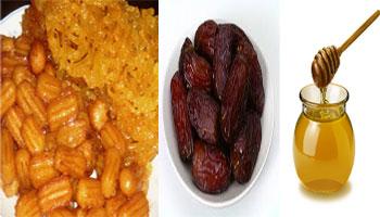 ماه رمضان, زولبیا و بامیه, افزایش قند خون