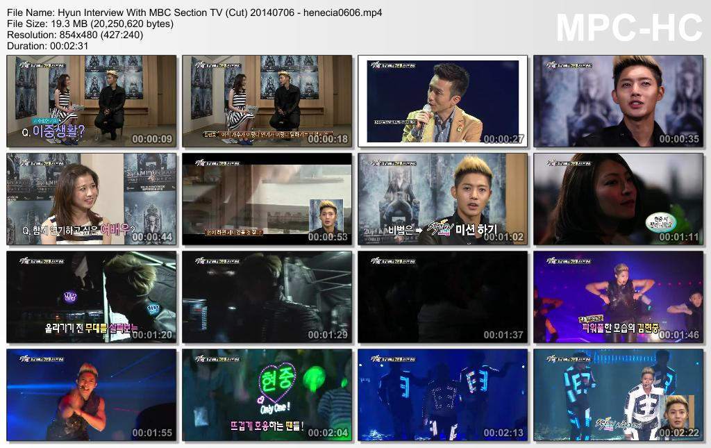 [Video] Kim Hyun Joong - MBC Section TV (Cut) [14.07.06]