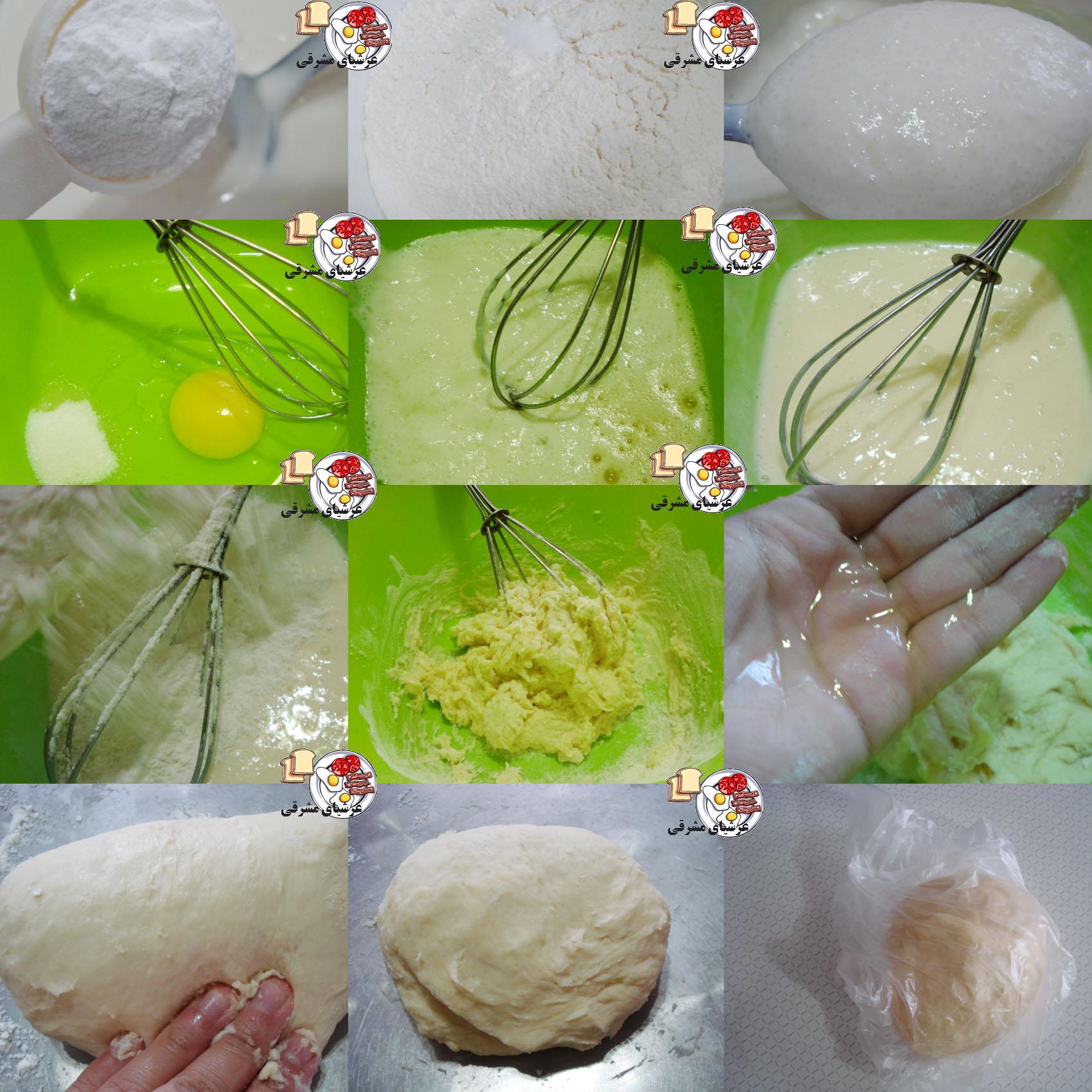 خمیر پیراشکی ، نان ، ... بدون خمیر مایه - عرشیای مشرقی