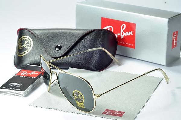 عینک آفتابی ریبن فریم طلایی