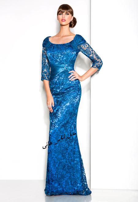 مدل لباس شب پوشیده مجلسی اروپایی 2017