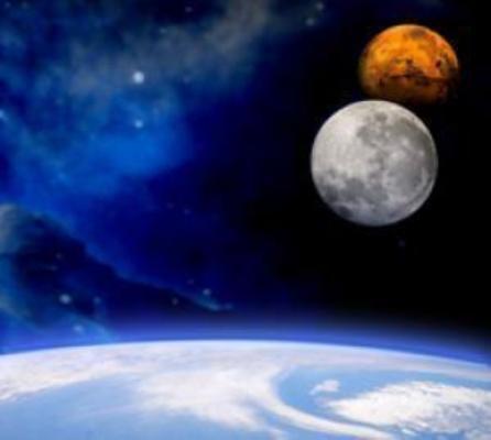 تازه های فضا: وقتی مریخ کنار ماه دیده شد!