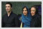 محمد رضا فروتن و  شقایق فراهانی در افتتاحیه فیلم تجریش ناتمام