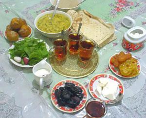 تغذیه رمضان, غذاهای سحری, سحری مناسب
