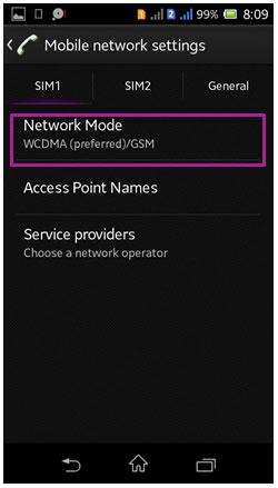 Network mode