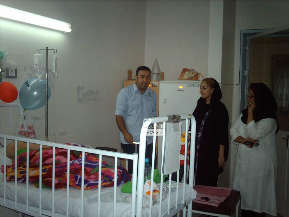 شقایق دهقان در بيمارستان طبي كودكان