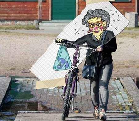 نقاشی های خنده دار و بامزه در خیابان,نقاشی های خنده دار