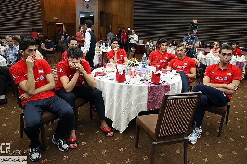 عکس های مراسم تقدیر از اعضای تیم ملی والیبال
