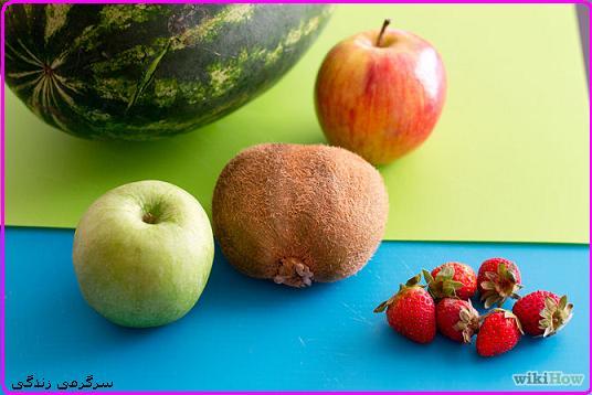 ظرف سالاد از میوه های تابستونی بساز
