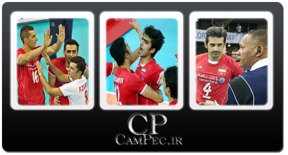 عکس های دیدار ایران و برزیل در لیگ جهانی والیبال