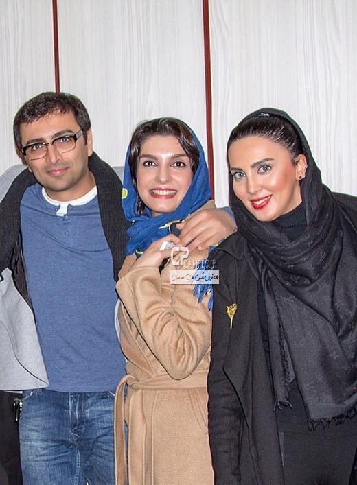 امین زندگانی و همسرش الیکا عبدالرزاقی و لیلا بلوکات