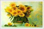 بک گرندهای زیبا از گل های آفتاب گردان
