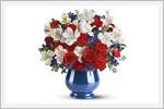 گلدان های پر از گل