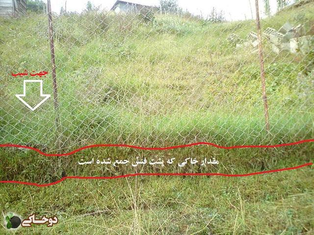 دو خاکی - این تصویر به عنوان مقیاسی از فرسایش شدید خاک