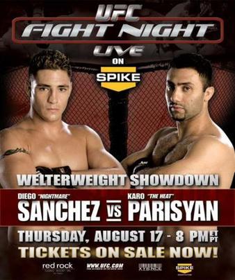 دانلود تک مسابقه  (UFC Fight Night 6 (Diego Sanchez vs. Karo Parisyan