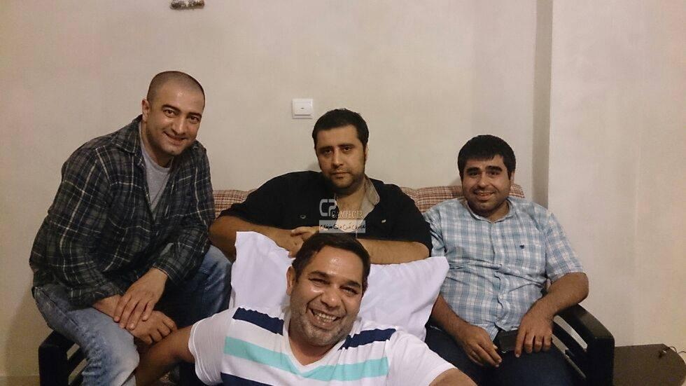 مجید صالحی،داریوش سلیمی،سعید نعمت الله و امیر نوری در پشت صحنه سریال مدینه