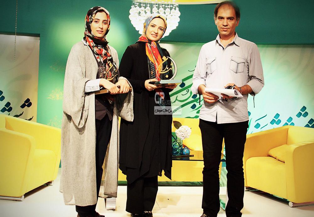 عکس های آناهیتا افشار و گلاره عباسی در پشت صحنه برنامه شهر باران