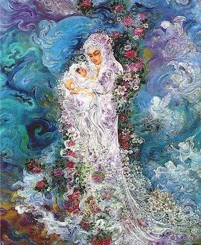 مینیاتور مادر - اثر استاد فرشچیان