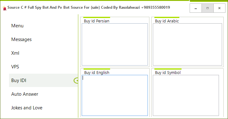 Source C # Full Spy Bot And Pv Bot Source For {sale} Coded By Rasolahwazi Mast5