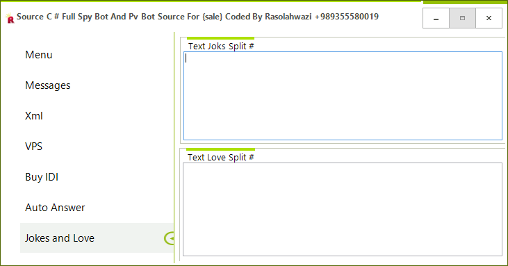Source C # Full Spy Bot And Pv Bot Source For {sale} Coded By Rasolahwazi Mast7