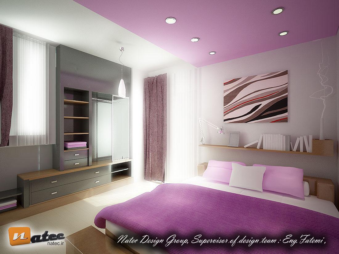 نمونه کار طراحی اتاق خواب در اصفهان