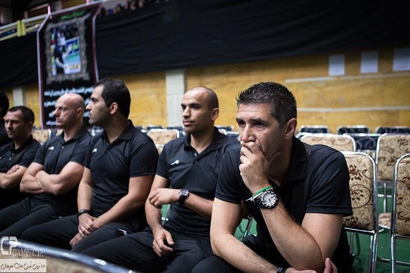 تشییع پیکر حسین معدنی مربی تیم ملی والیبال با حضور ملی پوشان