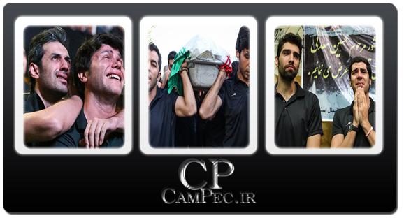 عکس های تشییع پیکر حسین معدنی مربی تیم ملی والیبال با حضور ملی پوشان
