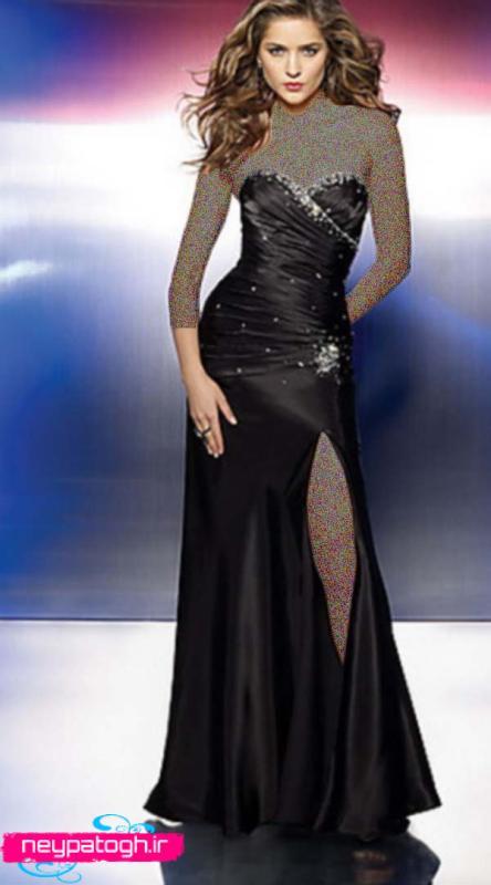 مدل لباس مجلسی مشکی جديد neypatogh.ir