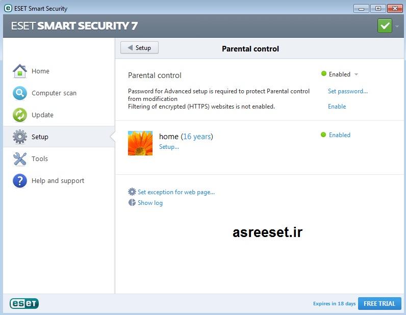 محدود کردن دسترسی به اینترنت توسط ایست اسمارت 7