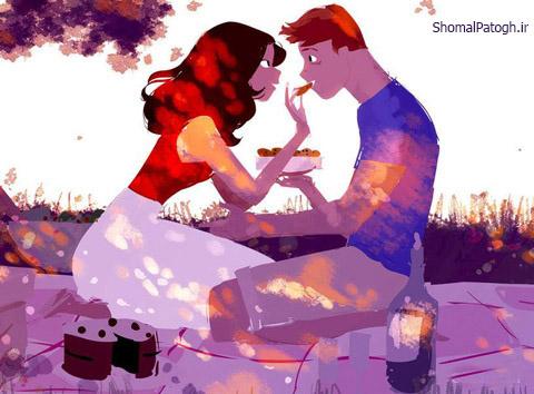 نوشته های احساسی با تصاویر زیبای عاشقانه