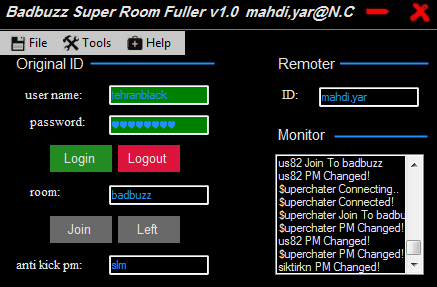 BADBUZZ Super Room Fuller Coded By mahdi,yar@n.c Org