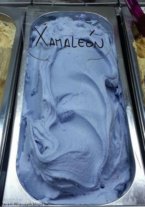 بستنی با تغییر رنگ و رنگ های متفاوت