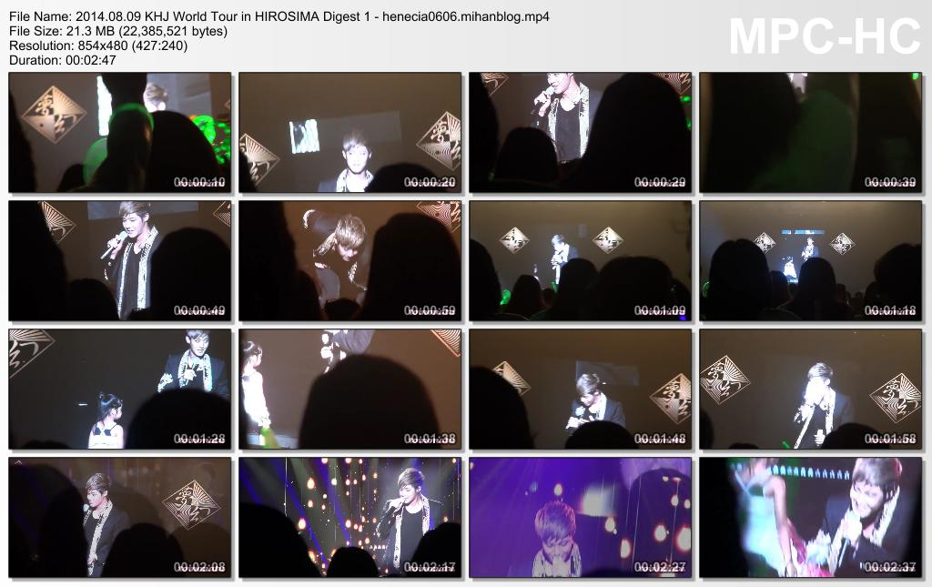 [Fancams] Kim Hyun Joong - 2014 World Tour Concert in Hiroshima [14.08.09]