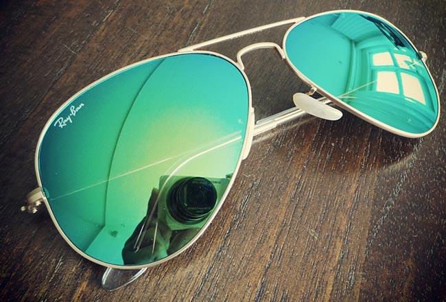 عینک ریبن شیشه سبز