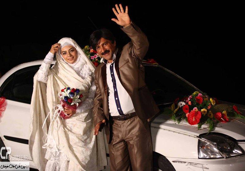 حمید رضا آذرنگ و یکتا ناصر در پشت صحنه سریال جاده قدیم
