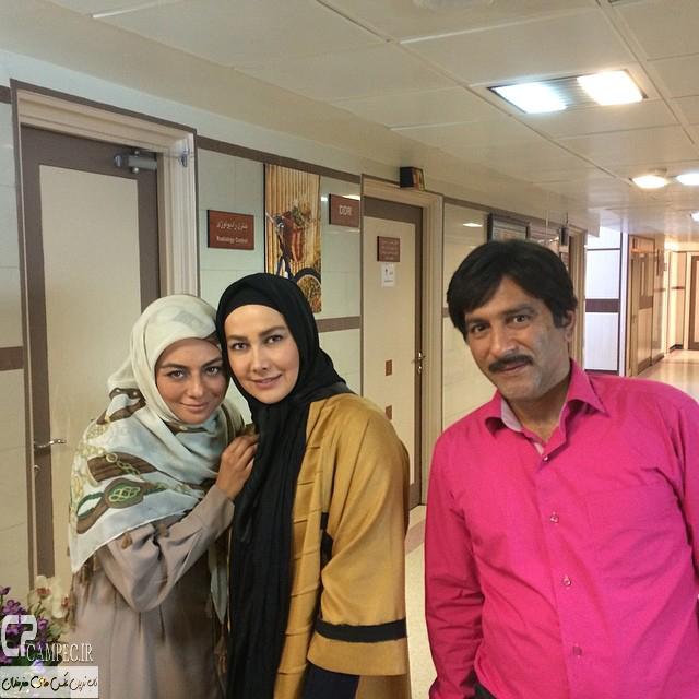 حمید رضا آذرنگ،آناهیتا نعمتی و یکتا ناصر در پشت صحنه سریال جاده قدیم